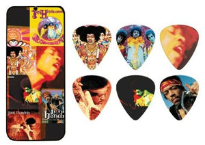Jimi Hendrix Guitar Picks Collectible Frontline Montage with Picks Dunlop.