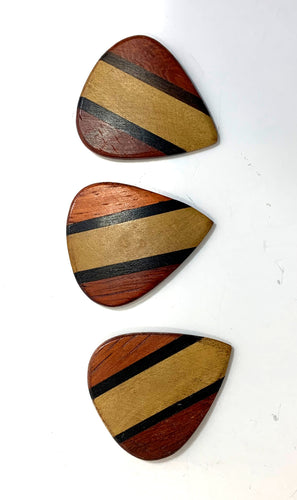 Clayton Guitar Picks  Exotic Series  Alaia Black  3 Pack.