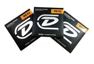 Dunlop Guitar Strings 3 sets Electric Nickel Wound Light 09-42