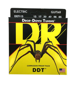 DR Guitar Strings Electric DDT Drop Down Tuning 13-65 Mega Heavy