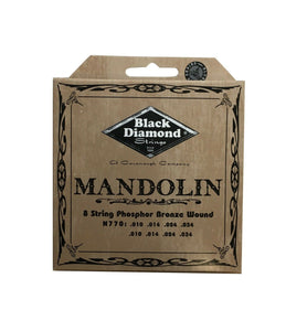 Black Diamond Mandolin Strings Phosphor Bronze Loop End .010-.034