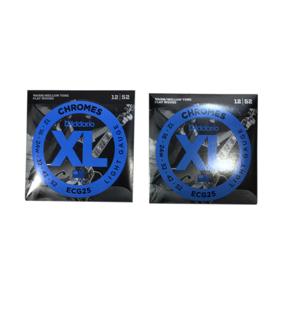 D'Addario Guitar Strings 2-Pack ECG25 Electric Chromes Light.