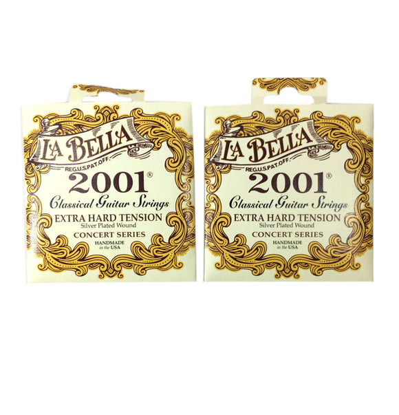 La Bella Guitar Strings 2-Pack  Extra Hard Tension  Silver Plated  Classical  2001.