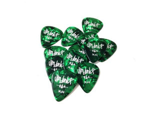 Dunlop Guitar Picks  12 Pack  Celluloid  Green Pearl  Extra Heavy.
