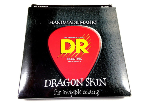 DR Bass Guitar Strings Dragon Skin 5 String 45-125 Invisible Coating Medium