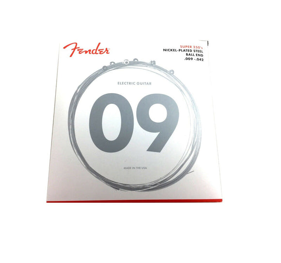 Fender Guitar Strings  Electric  Super 250  9-42 Light
