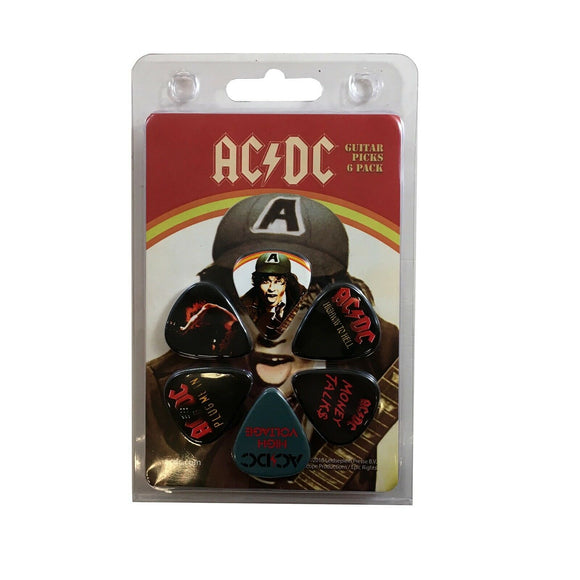 AC/DC Guitar Picks 6 Picks Albums Set 2