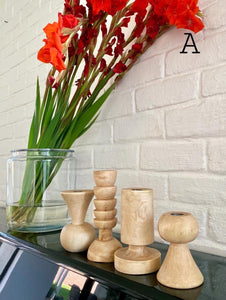 Jameela Candle Holders - Natural