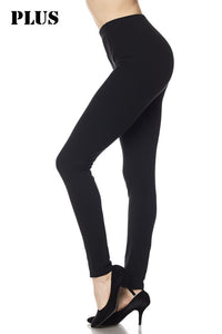 Black Leggings - Elastic Band