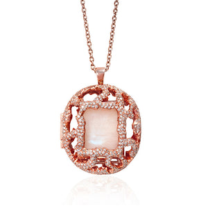 Relic Diamond Pave Locket in Rose Gold