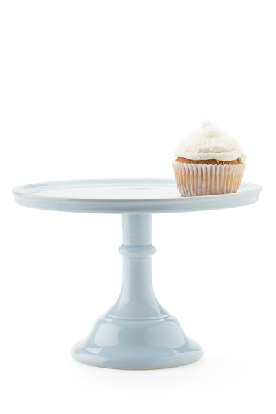 Ceramic Cake Stand Baby Blue Medium
