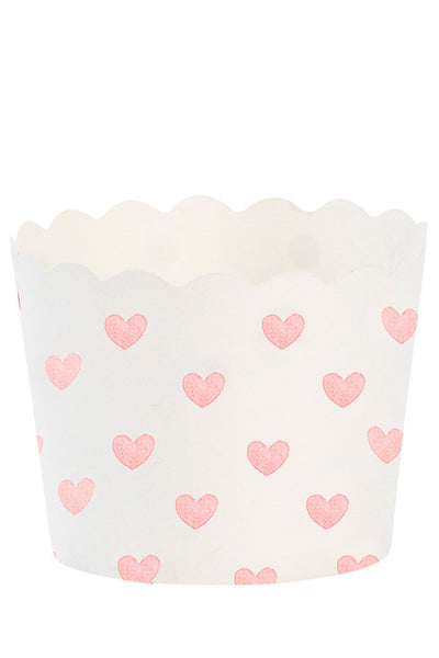 Pink Hearts Baking Cups Set of 24