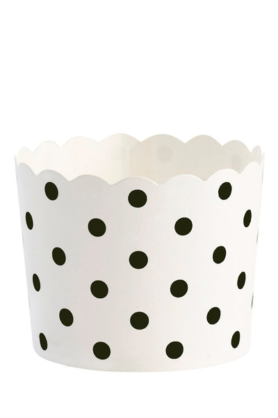 Black Polka Dot Baking Cups Set of 24