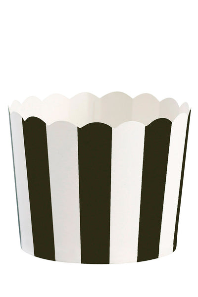 Black Striped Baking Cups Set of 24