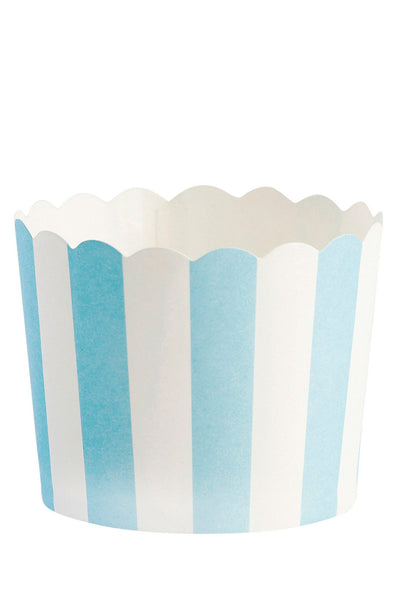 Blue Striped Baking Cups Set of 24