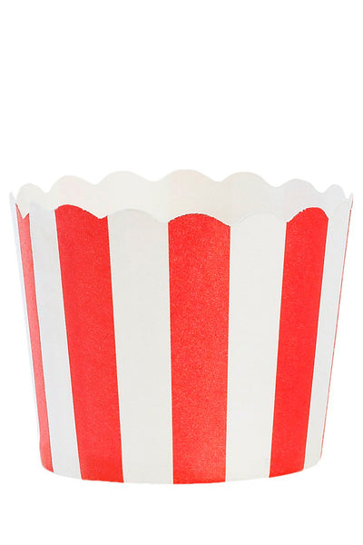 Red Striped Baking Cups Set of 24