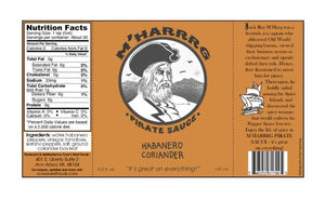 Mharg Pirate Habanero Coriander Hot Sauce