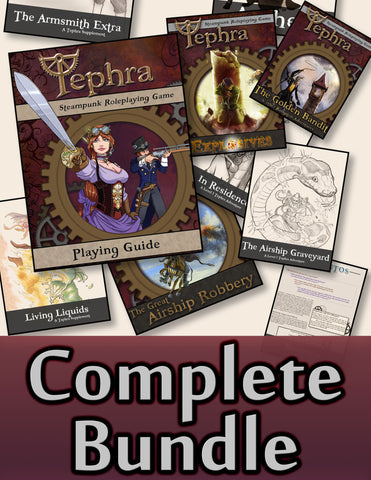 Tephra the steampunk rpg playing guide parlor for Bureau 13 rpg pdf