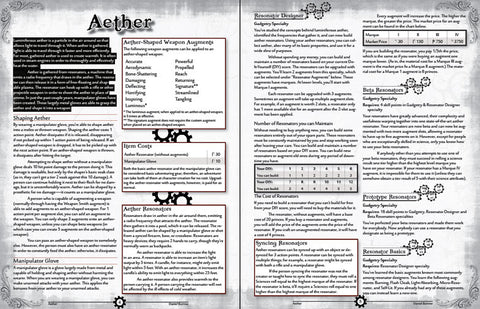Aether - Tephra PDF Supplement