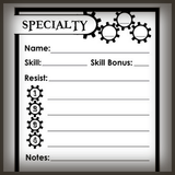 Free! Tephra Character Sheets & More!