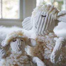 Load image into Gallery viewer, Hugglefleece Fluffer-Knottie, Louise the Lamb Dog Toy