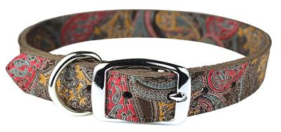 Paisley Leather Collection-Dog Collar