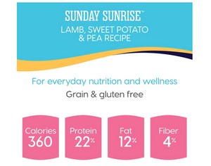 Solid Gold - Sunday Sunrise - Grain-Free Natural Lamb, Sweet Potato and Pea - Iron Rich - Holistic Adult Dog Food