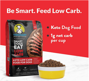 Visionary Pet - Keto Dog Food | Low Carb Kibble | High Protein | Natural Beef Flavor | Grain Free Dry Dog Food with Natural Formula for Lifelong Health & Happiness