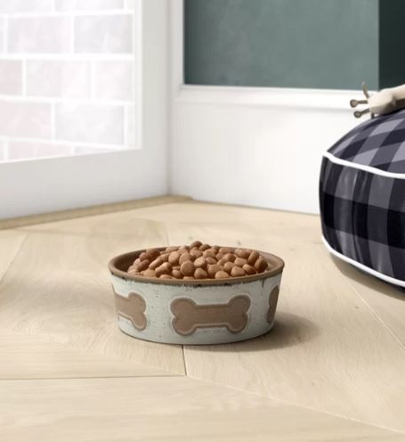 Jojo Bone Emboss Melamine Pet Bowl