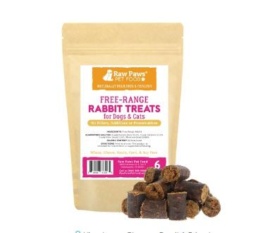 Rabbit Treats for Dogs & Cats, 6 oz