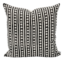 Load image into Gallery viewer, Geometric Print on Natural Linen Pillow Cover - Krinto.com