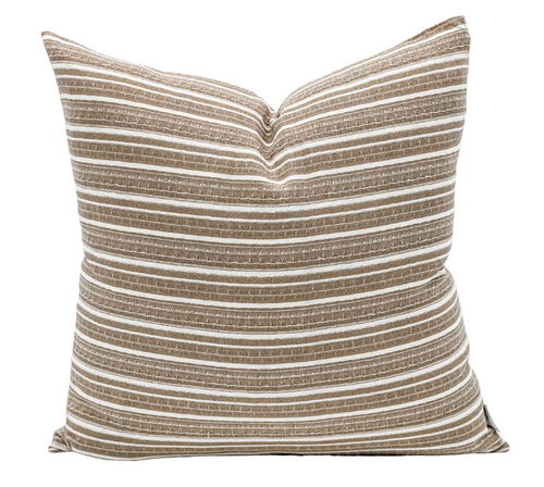 Cream and Brown Throw Pillow Cover - Krinto.com