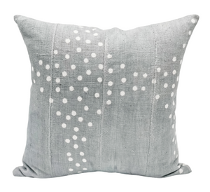 Light Grey With Dots Mudcloth Pillow Cover - Krinto.com