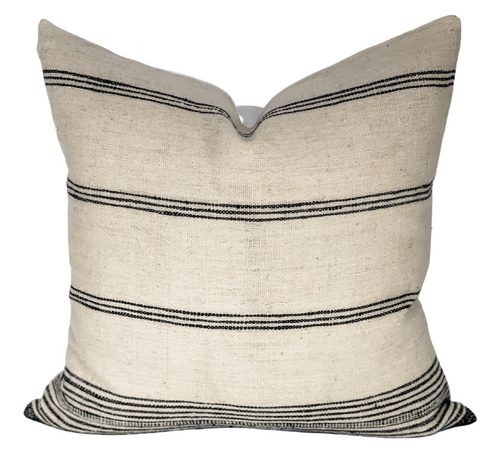 Vintage Striped Indian Wool Pillow Cover - Krinto.com
