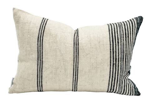 Lumbar White Indian Wool Pillow Cover - Krinto.com