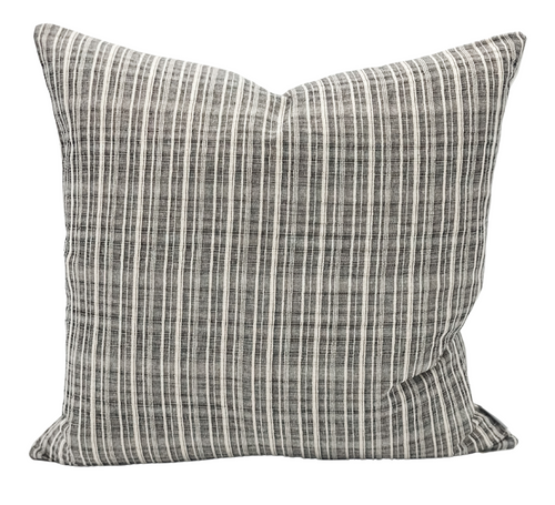 Black and cream Stripes Textured Pillow Cover - Krinto.com