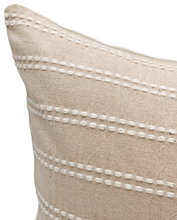Load image into Gallery viewer, Beige Cream Striped Woven Pillow Cover - Krinto.com