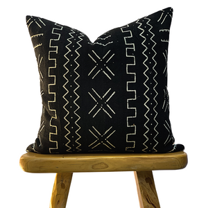 Black and White Design Mudcloth Pillow Cover - Krinto.com