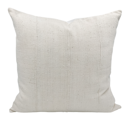 Cream White Mudcloth Pillow Cover - Krinto.com