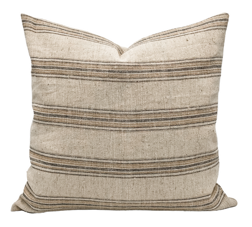 Striped Handwoven Wool Pillow Cover - Krinto.com