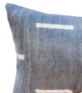 Extra Long Blue Grey With White Lines Pillow Cover - Krinto.com