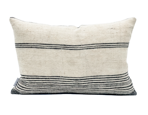 Lumbar Indian Wool Pillow Cover, - Krinto.com