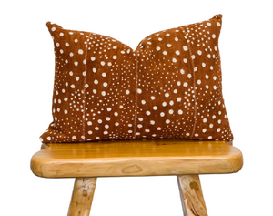 Rust Brown with Dots Mudcloth Pillow Cover - Krinto.com