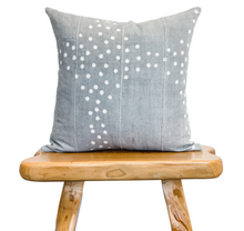 Load image into Gallery viewer, Light Grey With Dots Mudcloth Pillow Cover - Krinto.com
