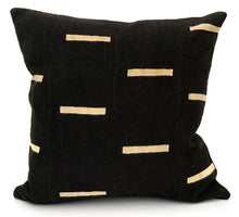 Load image into Gallery viewer, Mudcloth White Lines on Black Pillow Cover - Krinto.com