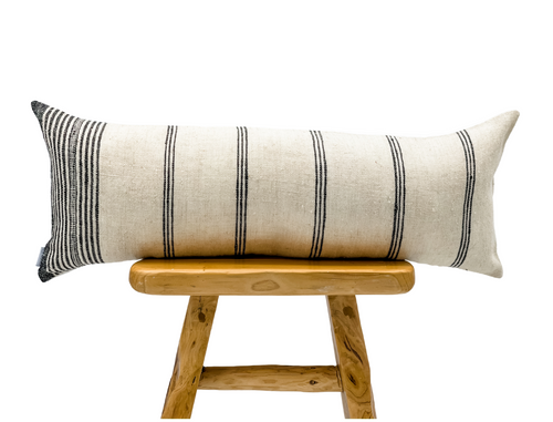 Extra Long Lumbar Indian Wool Pillow Cover - Krinto.com