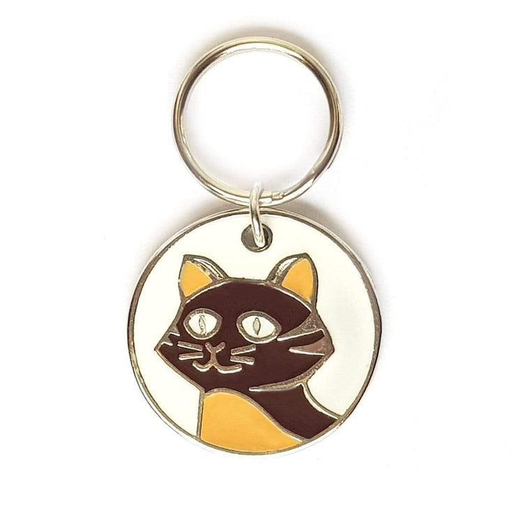 Chapa gato marrón 23mm