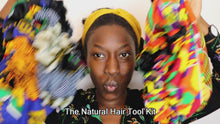 Load and play video in Gallery viewer, African print bonnets satin lined bonnet for natural hair type 4 hair