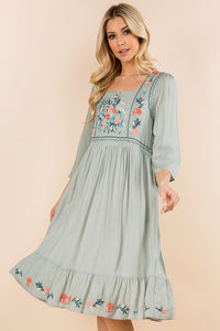 Cara Embroidered Dress