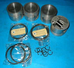 PISTON SET MGB 5 BEARING 020 HIGH COMPRESSION CCLIP + PRESS FIT - INCLUDES DELIVERY